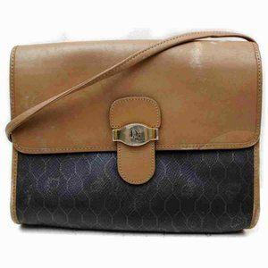Dior Monogram Trotter Flap Crossbody Black Brown
